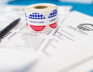 Election Ballot and Sticker