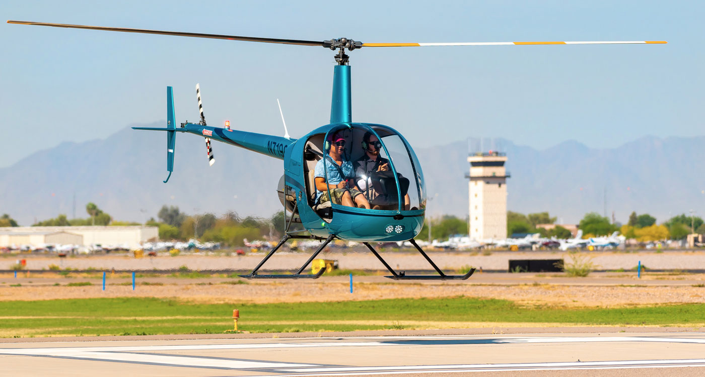 Helicopter at Chandler Municipal Airport