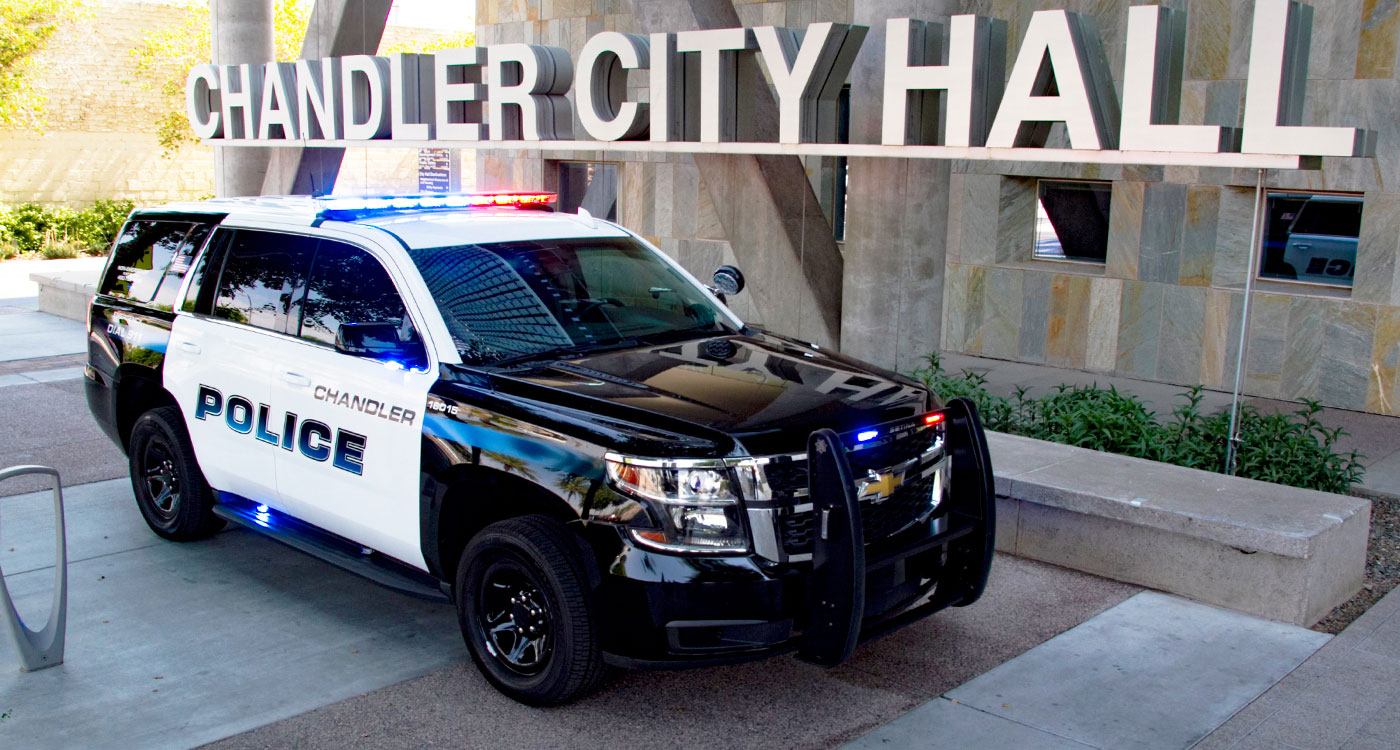 Chandler Police Department SUV at Chandler City Hall