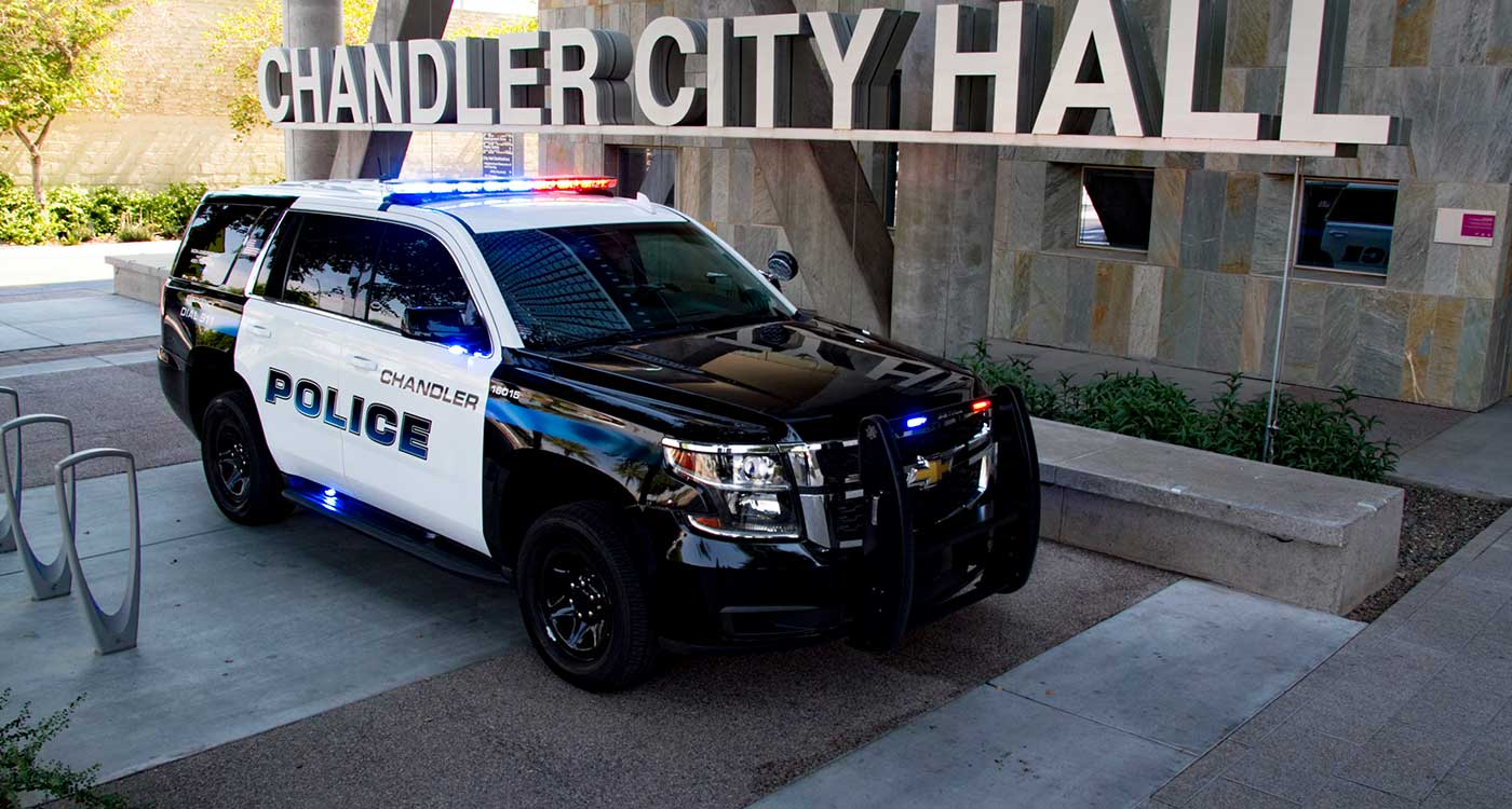Chandler Police Vehicle at City Hall