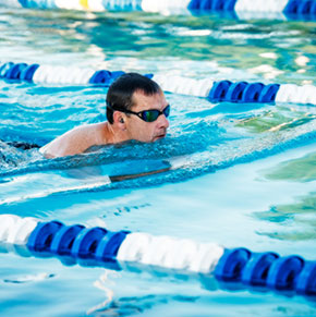 Male Breaststroke Lap Swim
