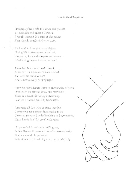 "3rd Place | Samantha S. | ""Hands Held Together"
