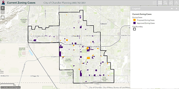 Interactive Map Of Arizona.Map Library City Of Chandler