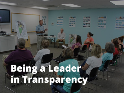Being a Leader in Transparency