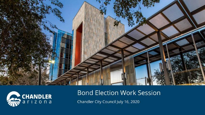 Bond Election Work Session
