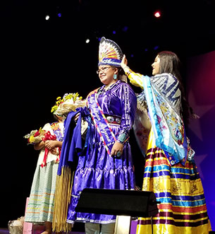 Crowning Miss Indian Arizona 2018-2019