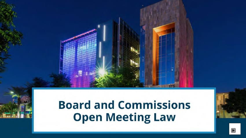 Boards and Commissions Open Meeting Law