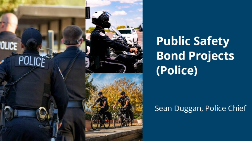 Finance Subcommittee Proposed Public Safety Projects: Police