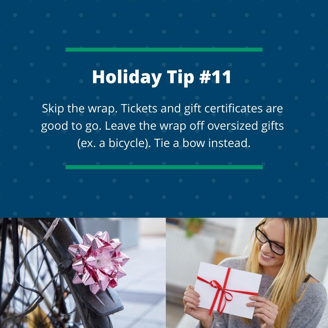 Holiday Tips #11
