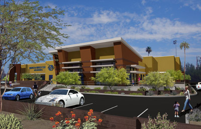 Architectural rendering of Chandler Boys and Girls Club
