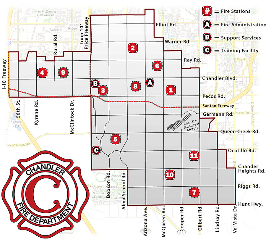 Chandler Fire Stations Map