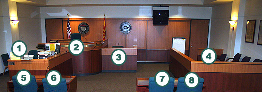 Inside Chandler Municipal Court