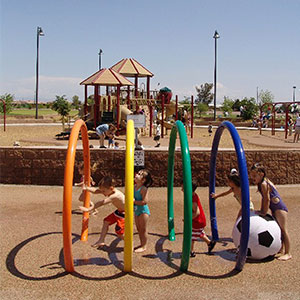 Local kids enjoying Chuparosa Park Spray and Splash Pad