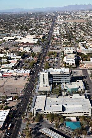 aerial photo of Arizona Ave