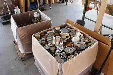 household hazardous waste in box