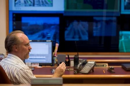 photo of person in traffic management center