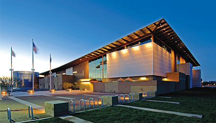 An early evening photo of the Tumbleweed Recreation Center