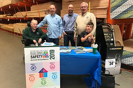 Last Years Building Safety Division at Home Depot Outreach Event
