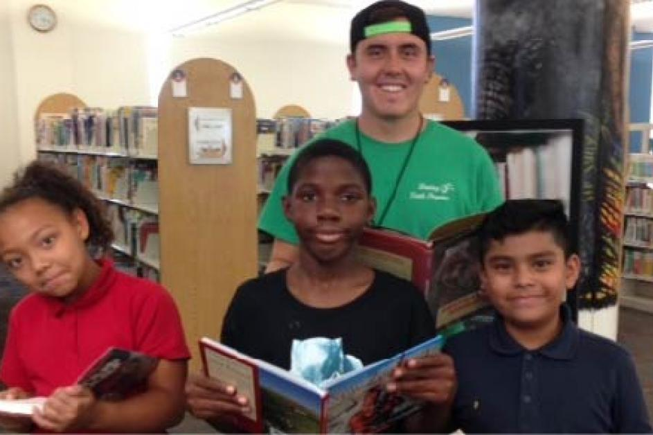 A group of kids that participated in the City's reading programs