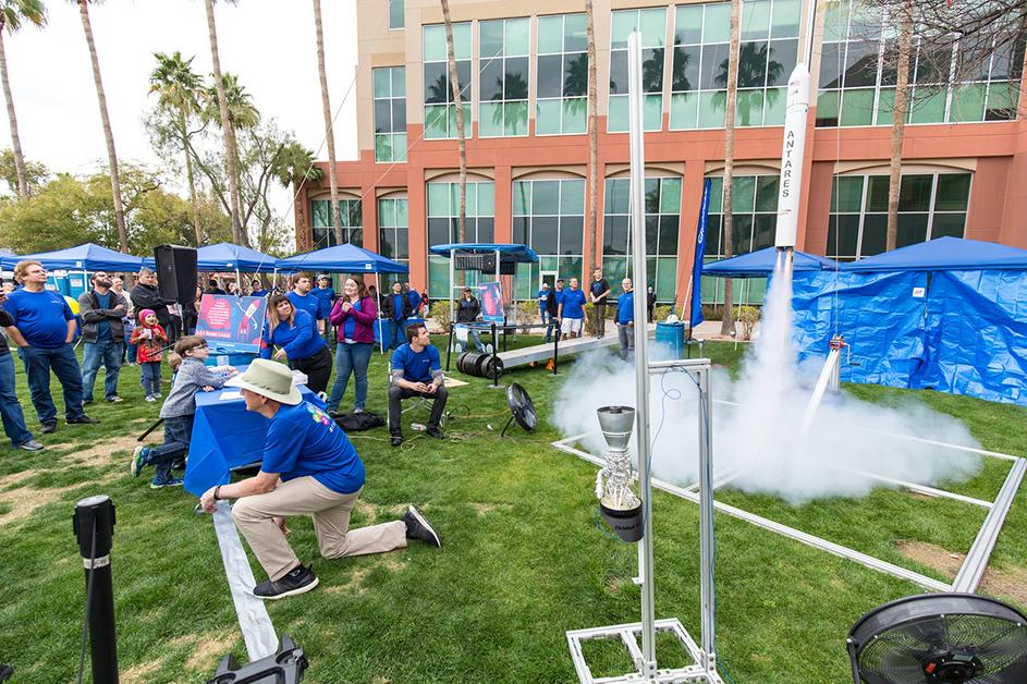 Northrop Grumman display a the 2019 Chandler Science Spectacular