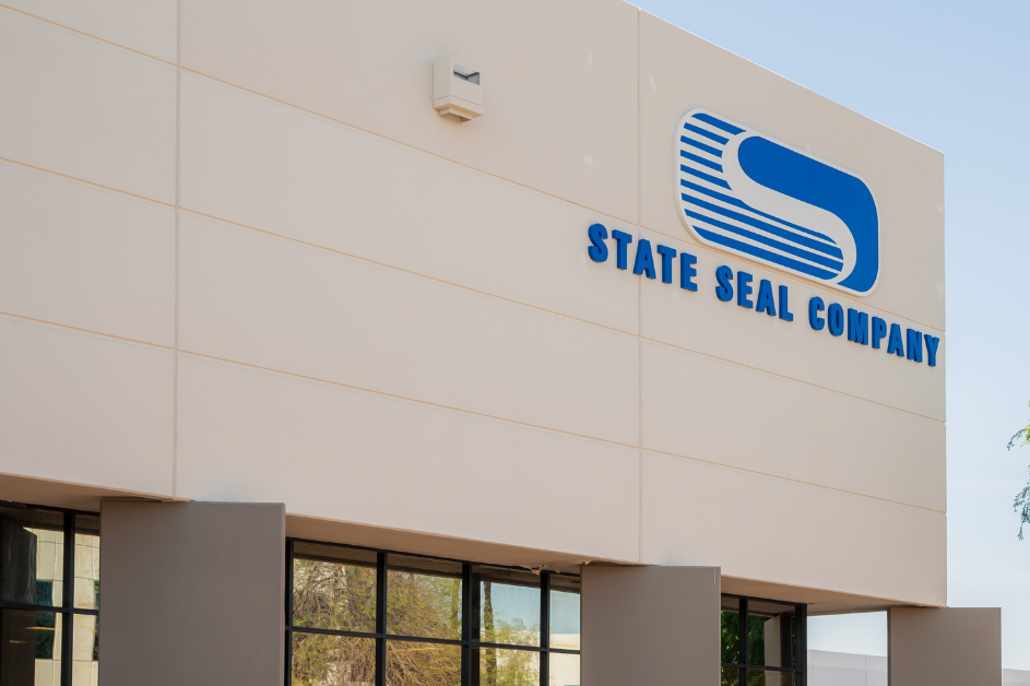 Exterior shot of State Seal Company building
