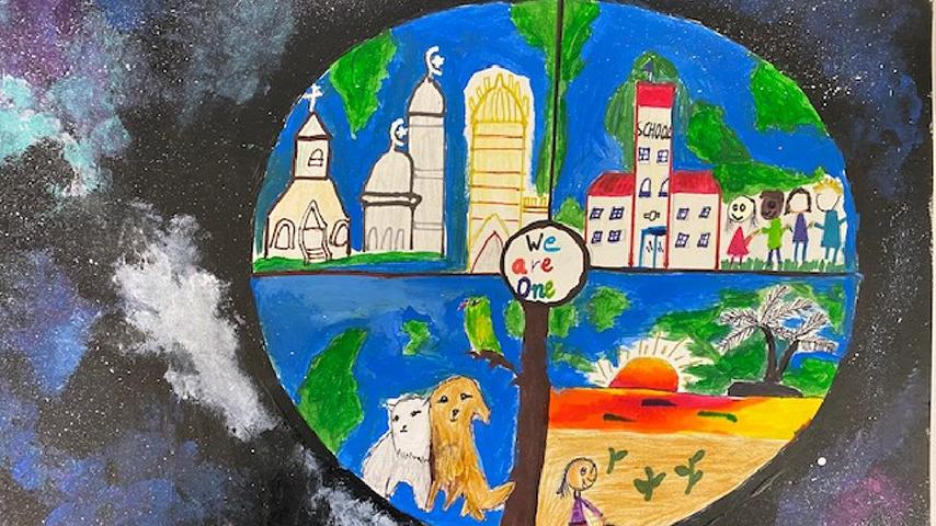 "1st Place: K – 4th Grade Harinee A. | ""Different But One"""