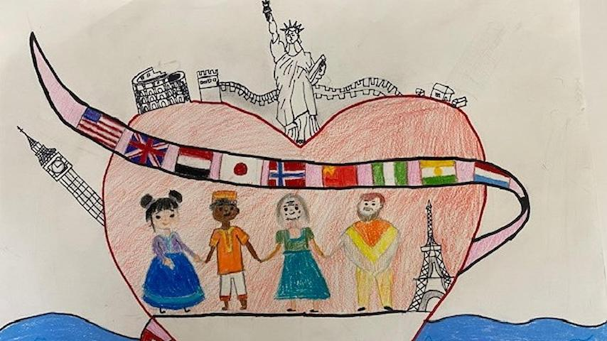 "2nd Place: 5th – 8th Grade Tyler W. | ""United Together"""