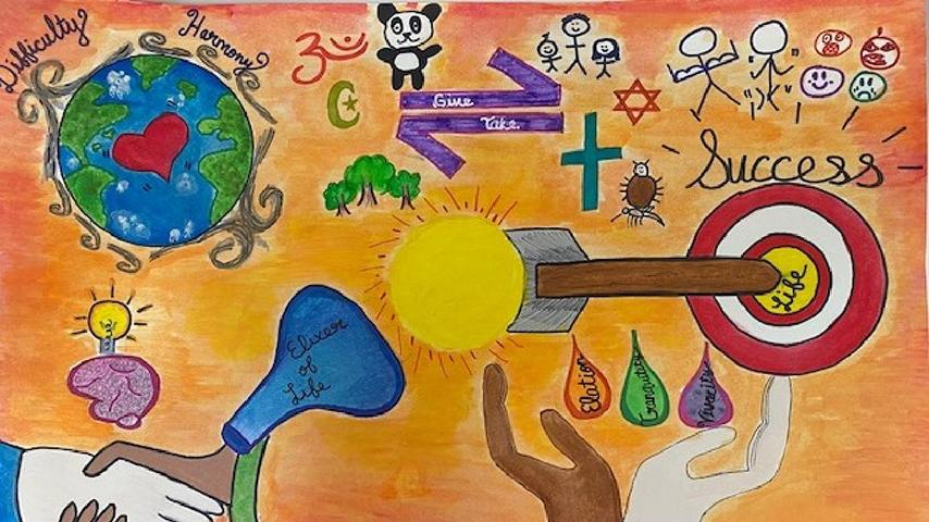 "3rd Place: 9th – 12th Grade Jayashree A. | ""My Ideal World"""