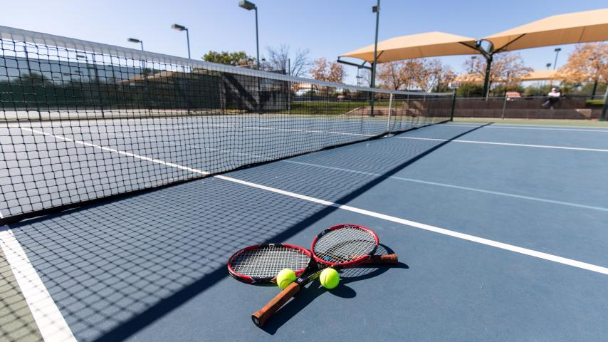 tennis courts and racquets