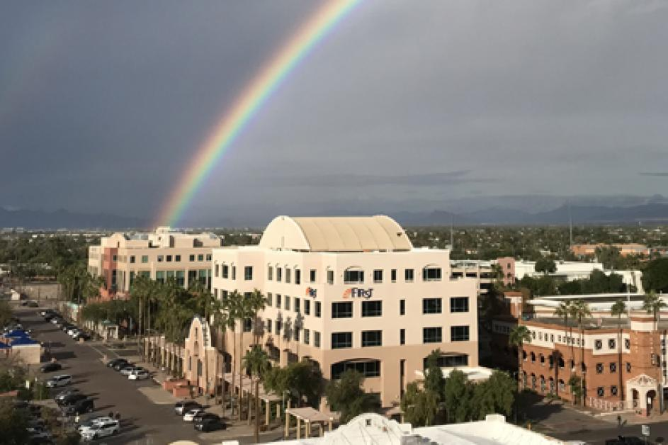 Rainbow over Downtown Chandler