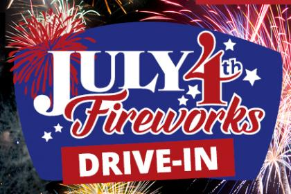 July 4 Fireworks Spectacular Drive-in Logo