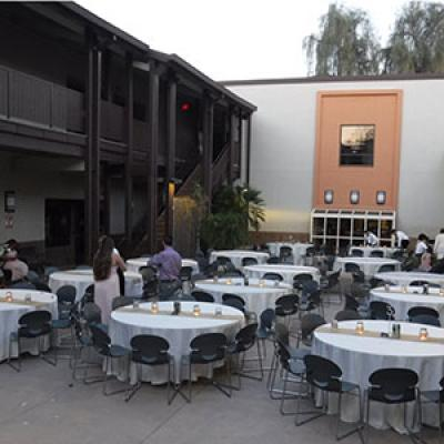 Private Rental Banquet Seating at the Chandler Community Center Outdoor Courtyard