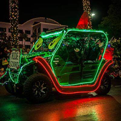 Parade of Lights Green Car