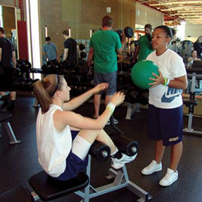 Teens working out at the Tumbleweed Recreation Center