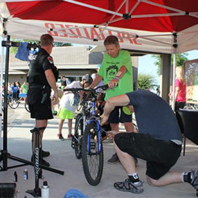 Getting a Tune-up at the Chandler Family Bike Ride