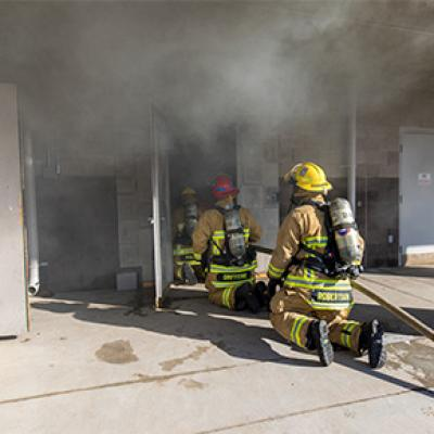 Chandler Firefighters training