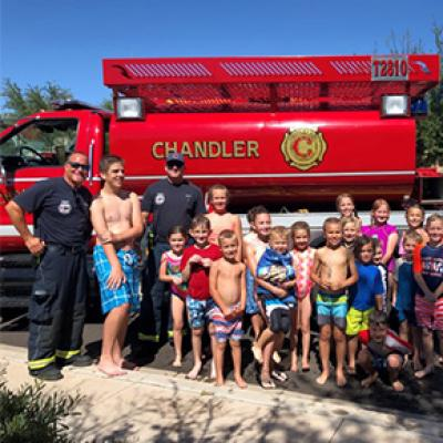 Chandler Fire Truck at a community event