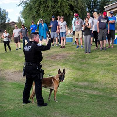Chandler K-9 Unit at G.A.I.N. event