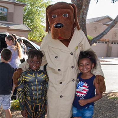 McGruff the Crime Fighting Dog at a GAIN event