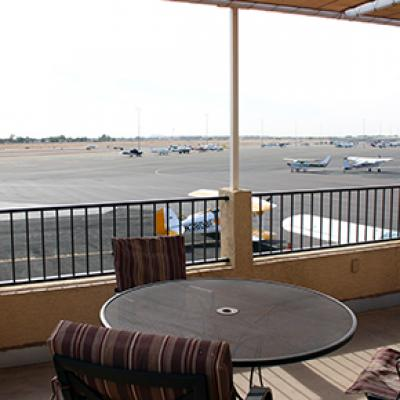 Runway view of the Hangar Cafe