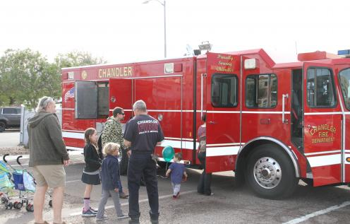Chandler Fire Truck at a public safety event