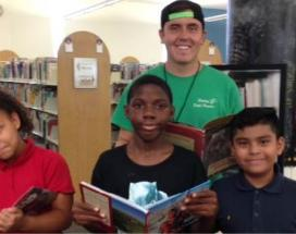 A group of kids that participated in the City's Reading Program