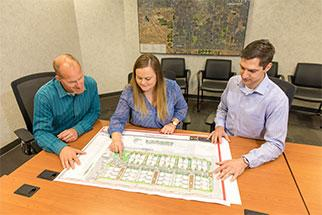 Reviewing City planning maps