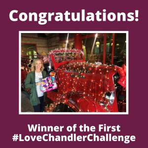 Winner of the first #LoveChandlerChallenge Kara B.