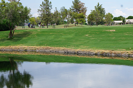 The lakes at Ocotillo Golf Club are filled with reclaimed water. ​