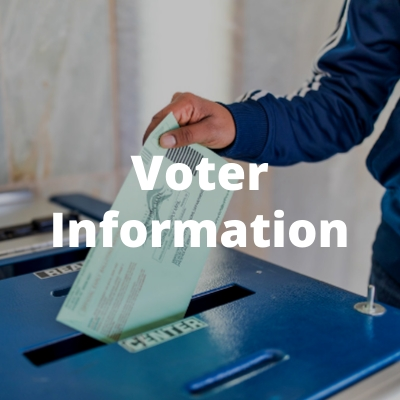 Voter Information: Person putting a ballot in ballot box